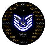 U.S.A.F./sargento técnico E-6 Relojes De Pared