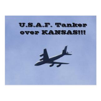 U.S.A.F. Tanker over Kansas Postcard