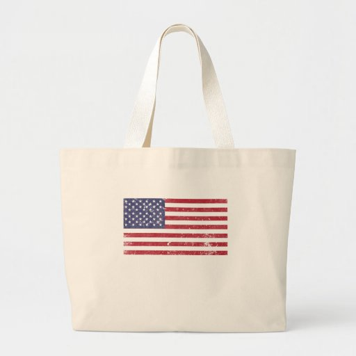 U. S. A. Flag Canvas Bags