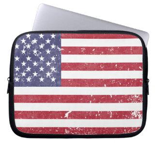 U. S. A. Flag Computer Sleeve