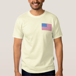 U S A Flag Embroidered T-Shirt