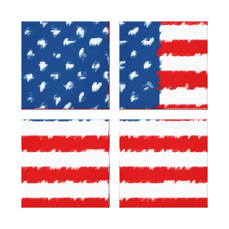 U.S.A. Flag Gallery Wrapped Canvas