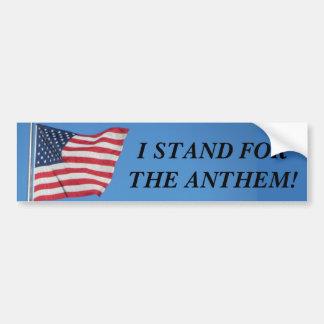 U.S.A. Flag I Stand for the Anthem Bumper Sticker