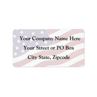 U.S.A. Flag Custom Address Labels