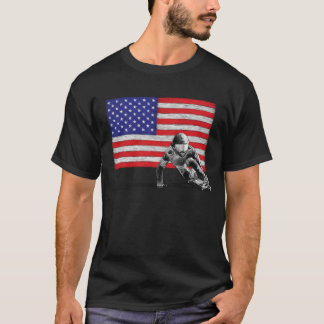 U.S.A. flag longboarding t-shirt