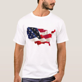 U.S.A. Flag Map Tee Shirt