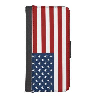 u.s.a. flag patriotic iPhone SE/5/5s wallet