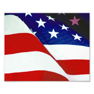 U.S.A. Flag Photo Print