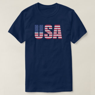 U.S.A Flag Text T-Shirt