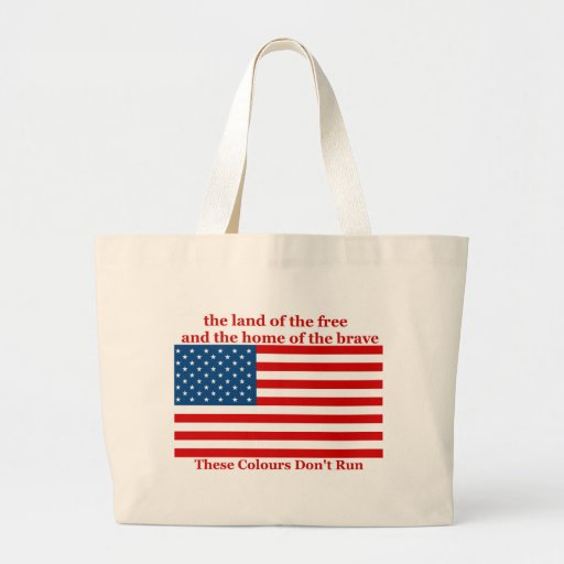 U S A FLAG the land of the free Tote Bags