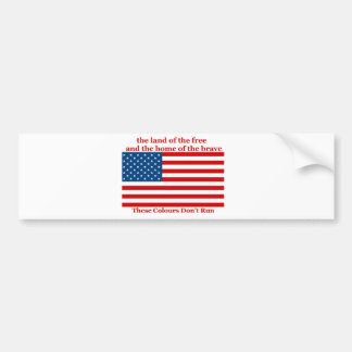 U S A FLAG the land of the free Car Bumper Sticker