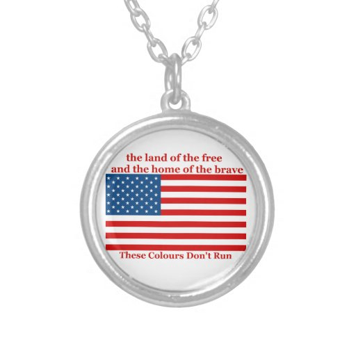 U S A FLAG the land of the free Necklaces