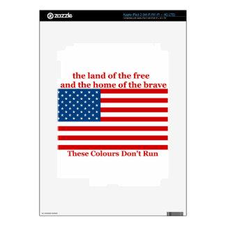 U S A FLAG the land of the free iPad 3 Skin