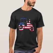 U.S.A Flag Tractor T-Shirt