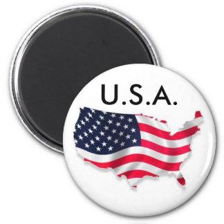 U.S.A. Fridge Magnet