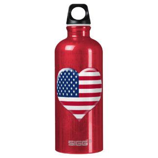 U.S.A. Heart Charm Water Bottle