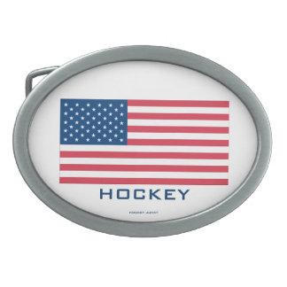 U.S.A. HOCKEY OVAL BELT BUCKLE