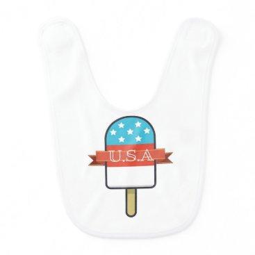 USA Themed U.S.A. Ice Lolly Baby Bib