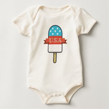 USA Themed U.S.A. Ice Lolly Baby Bodysuit