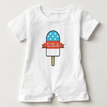 USA Themed U.S.A. Ice Lolly Baby Romper