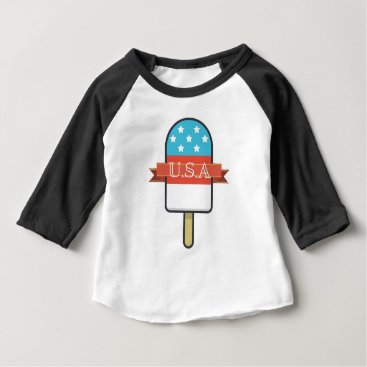 USA Themed U.S.A. Ice Lolly Baby T-Shirt