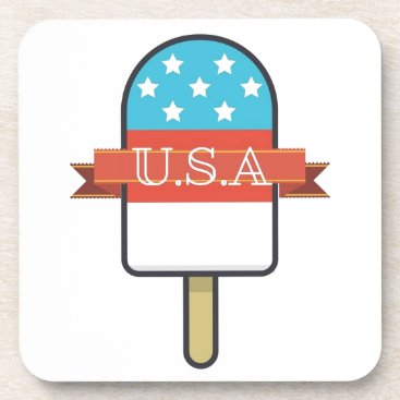 USA Themed U.S.A. Ice Lolly Beverage Coaster
