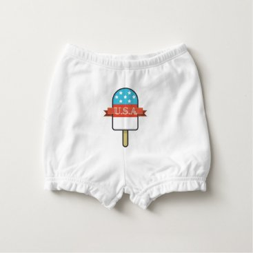 USA Themed U.S.A. Ice Lolly Diaper Cover