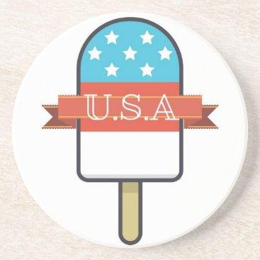 USA Themed U.S.A. Ice Lolly Drink Coaster