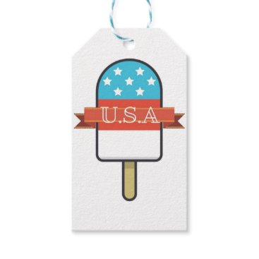 USA Themed U.S.A. Ice Lolly Gift Tags