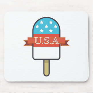 U.S.A. Ice Lolly Mouse Pad