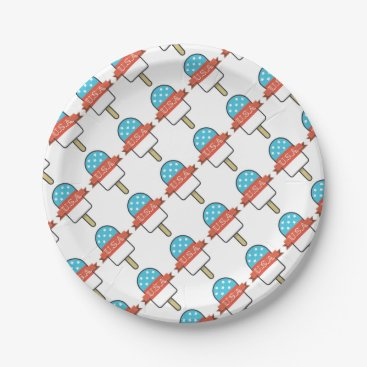 USA Themed U.S.A. Ice Lolly Paper Plate