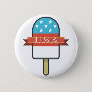 U.S.A. Ice Lolly Pinback Button
