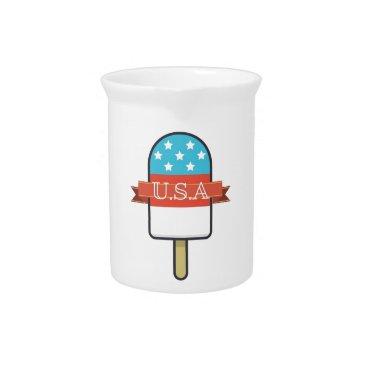 USA Themed U.S.A. Ice Lolly Pitcher