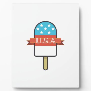 USA Themed U.S.A. Ice Lolly Plaque