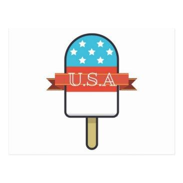 USA Themed U.S.A. Ice Lolly Postcard