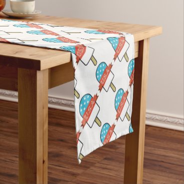 USA Themed U.S.A. Ice Lolly Short Table Runner