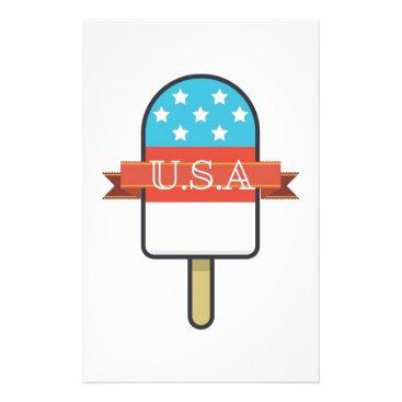 USA Themed U.S.A. Ice Lolly Stationery