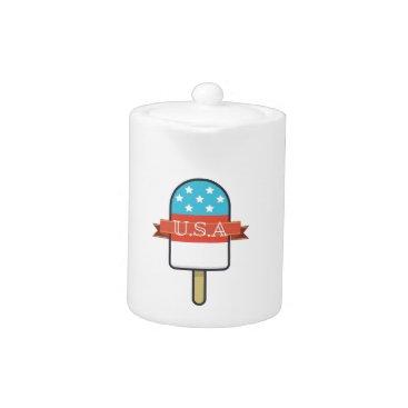 USA Themed U.S.A. Ice Lolly Teapot
