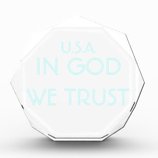 U.S.A. IN GOD WE TRUST - CUSTOMIZABLE ACRYLIC ACRYLIC AWARD