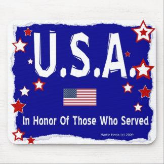 U.S.A.- In Honor - Mousepad