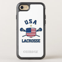 U.S.A Lacrosse Phone OtterBox Symmetry iPhone 8/7 Case