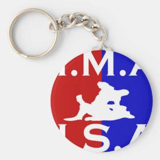 U.S.A. Logotipo 1.jpg de M.M.A. Llavero Redondo Tipo Pin