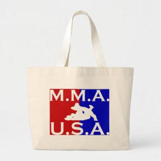 U.S.A. Logotipo 2.jpg de M.M.A. Bolsa De Tela Grande
