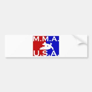 U.S.A. M.M.A. logo 2.jpg Bumper Sticker