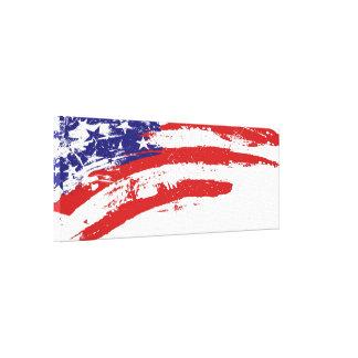 U.S.A. mancha de la pintura de la bandera (de Esta Impresión De Lienzo