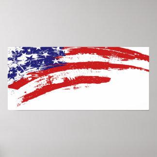 U.S.A. mancha de la pintura de la bandera (de Esta Impresiones