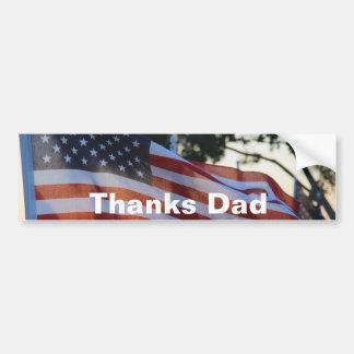 U.S.A Memorial Day Flags Waving in Wind Bumper Sticker