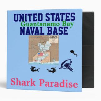 U.S.A. Naval Base Guantanamo Bay: Shark Paradise 3 Ring Binder