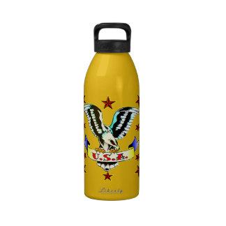 U.S.A Old School Eagle Tattoo Drinking Bottles