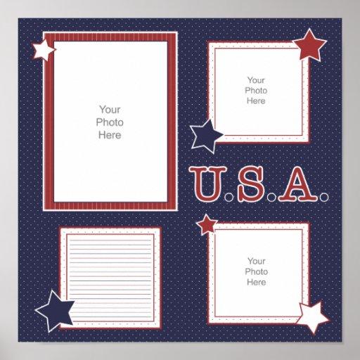 U.S.A. Página del libro de recuerdos Impresiones